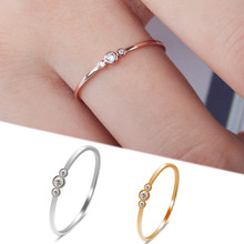 Crystal Jewelry Valentines Gifts Ring Engagement Women Simple Bridal & Wedding 3 Sale(China)