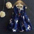 Flor Vestido de aniversário Para Crianças 2-7Years Verão Roupas Extravagantes Desenhos Animados Projeto Meninas Vestido de Festa À Noite Vestidos de Colete