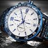 OCHSTIN Famous Brand Men Sports Leather Chronograph Quartz Military Wrist Watch Male Date Clock Fluorescence Relogio