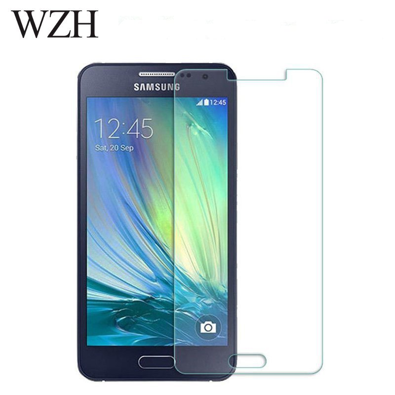 WZH Tempered <font><b>Glass</b></font> For <font><b>Samsung</b></font> <font><b>Galaxy</b></font> <font><b>A3</b></font> A5 A7 A710F Screen Protector Safety Protective Film A300F A500F A700F A700 <font><b>2015</b></font> j3 j5 image