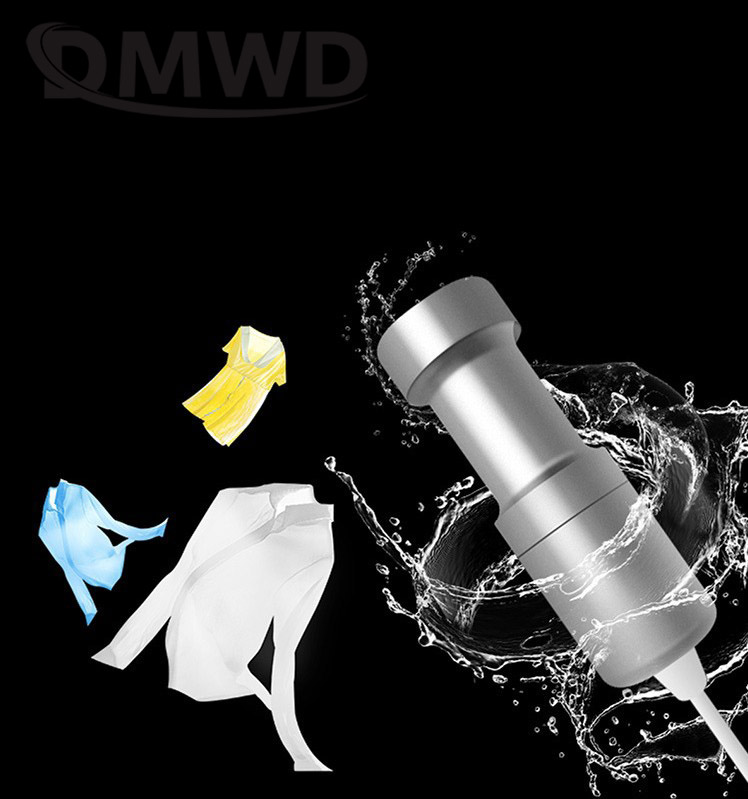 DMWD Mini Ultrasonic Cleaner Pocket Laundry Washing Machine Clothes Washer Travel Vegetable Fruit Jewelry Ultrasound Clean Bath