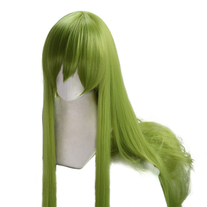 Image 2 - Fate Grand Order Cosplay Enkidu Wig Green Long Straight Wig 90cm wig long for costume party Synthetic hair
