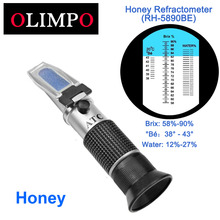 Yieryi Handheld Refractometer 58 90 Brix 38 43 Be Baume Onetime