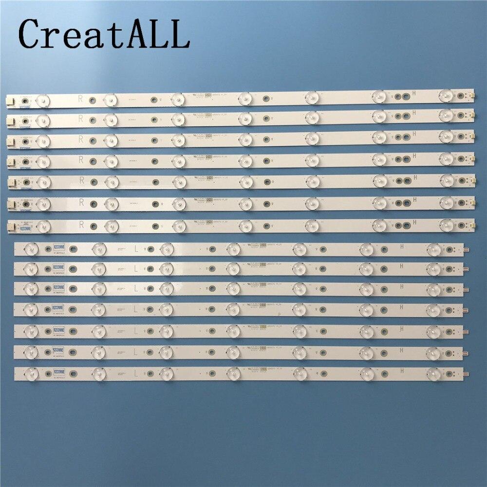 LED backlight strip 14 lamp for Philips 55 TV 55PFF5701 T3 LB55072 55PUS6501 12 TPT550U2 EQLSHA