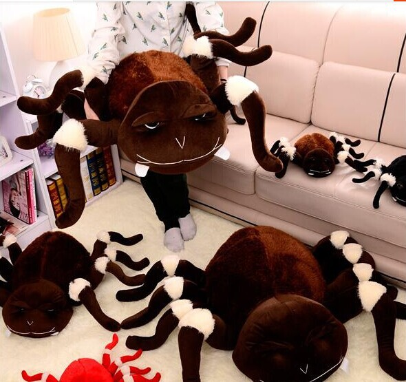 big plush whimsy spider toy brown spider doll creative spider doll about 60x90cm сноуборд black fire whimsy 2016 17
