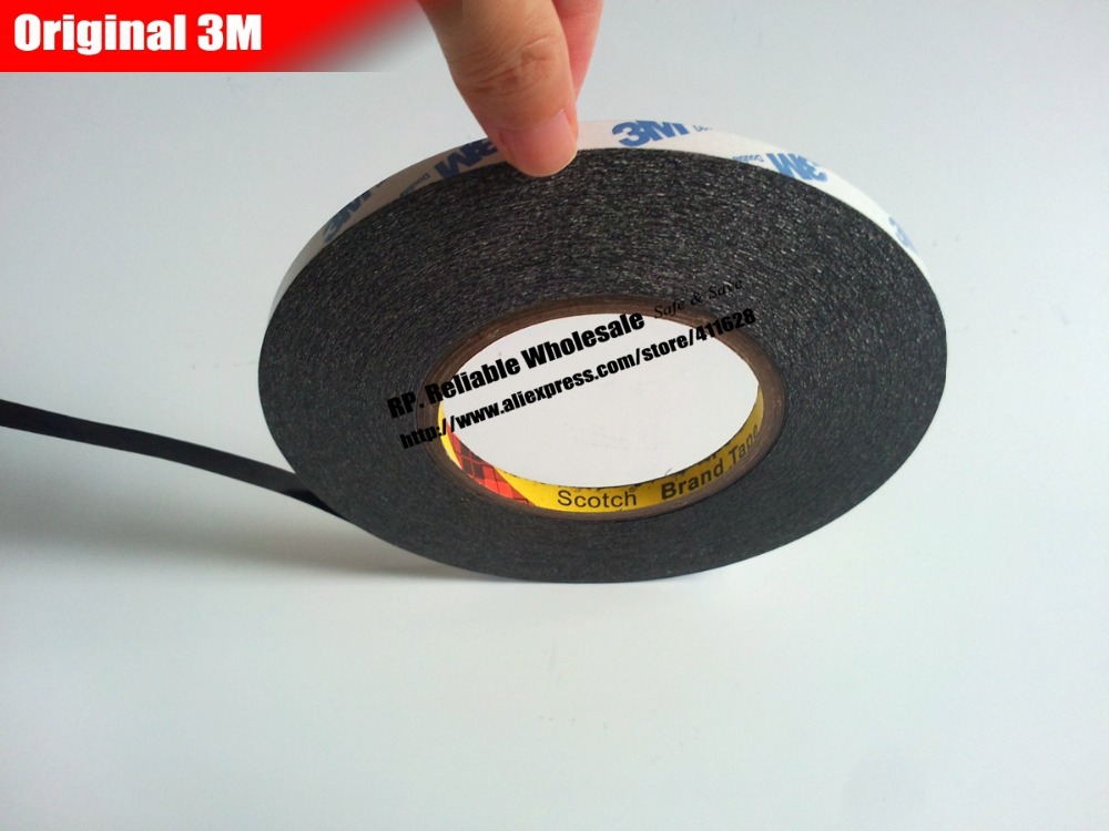 Original Scotch Black Strong Double Sided Adhesive Tape for iphone Samsung HTC Huawei Tablet Touch