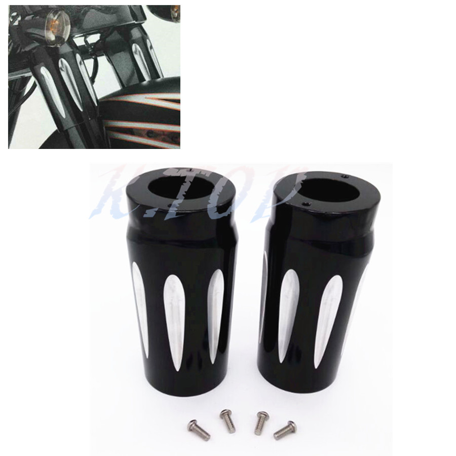Covers & Ornamental Mouldings Automobiles & Motorcycles Black Motorcycle Aluminum Upper Fork Slider Cover Cast Fits For Harley Touring And Trike Models 1980-2013 Road King Street Glide