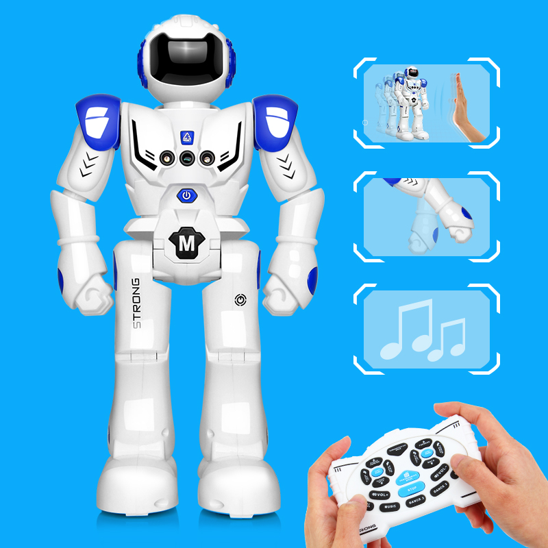 DODOELEPHANT RC Smart Robot Remote Control Robot Toy Action Figure With Gesture Function Toy For Boys Children Birthday Gift free shipping genuine joy toy 1 27 action figure robot military soldier set a birthday present simple packaging