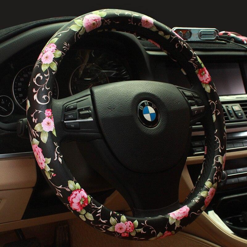 Bekend Winter Steering Wheel Cover Diamond Crystal Crown Auto Heated Fur  #OC52