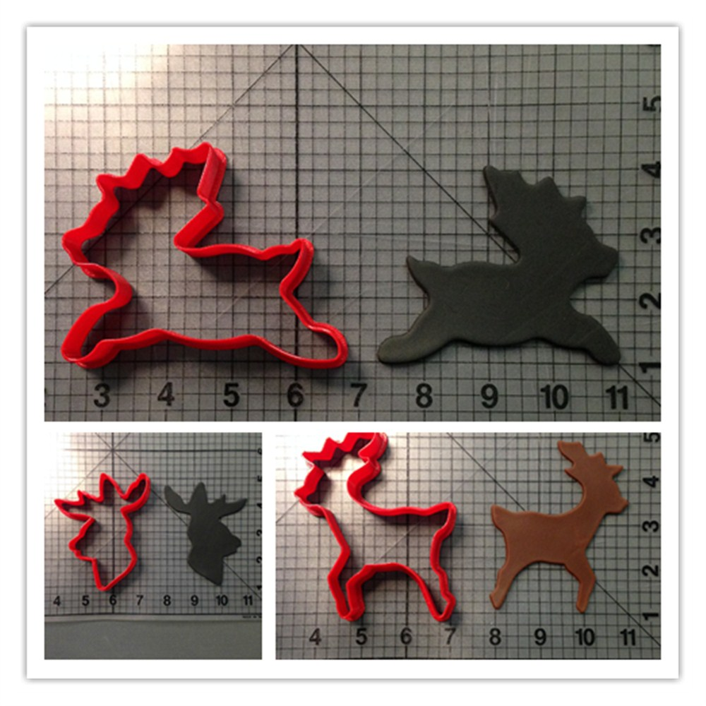 Animal reindeer and head fondant cake decorating tools for 3d printer cake decoration