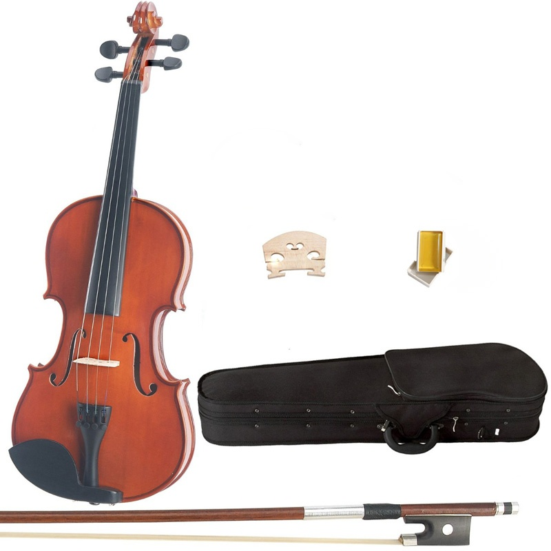 4 4 Violin Natural Maple Wood Acoustic Violin With Case Rosin Bow