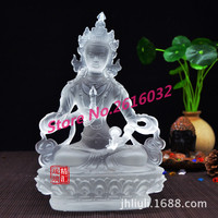 Vajrasattva duo glazed statues glazed Guanyin, ancient glass Buddha factory