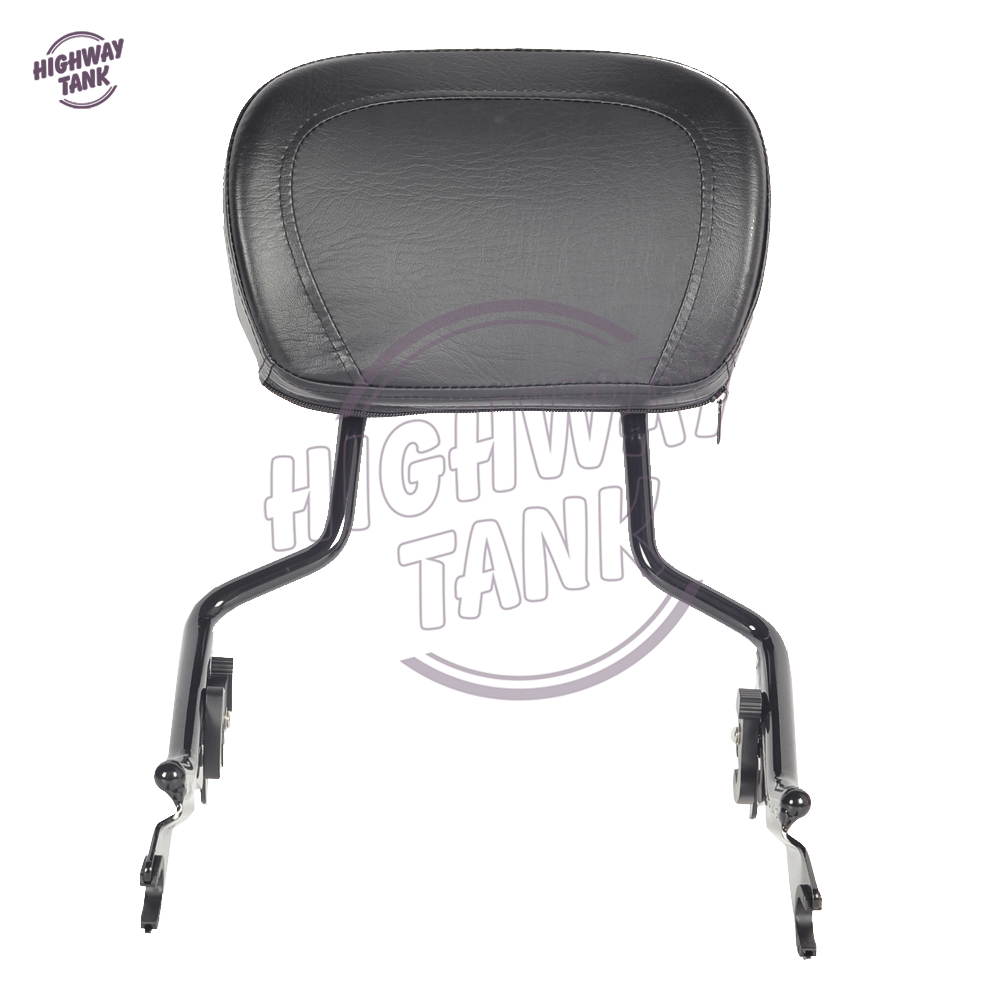 Motorcycle Detachable Sissy Bar Passenger Backrest Moto Rear decoration case for Harley Touring Street Glide Road King 2009-2017 motorcycle chrome detachable backrest sissy bar passenger backrest for harley dyna fxd fxdb fxdc fxdl fxdwg fxdse
