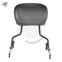 Motorcycle Detachable Sissy Bar Passenger Backrest Moto Rear decoration case for Harley Touring Street Glide Road King 2009 2017