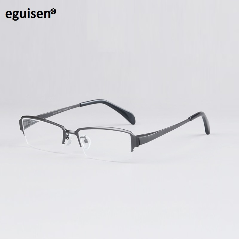 WIDTH-140 Business man eyeglasses frame titanium half rim prescription optical goggle male reading glasses frame eyewear frames