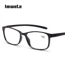 Imwete clásico gafas de lectura hombres mujeres presbicia gafas resina  clara lente 1,0 1,5 2,0 2,5 3,0 3,5 e9e236c3bd