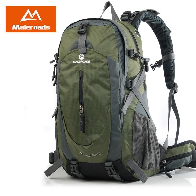 Maleroads sac à dos d'escalade camping imperméable randonnée voyage pack plein air sport sac à dos pour femmes et hommes 40L