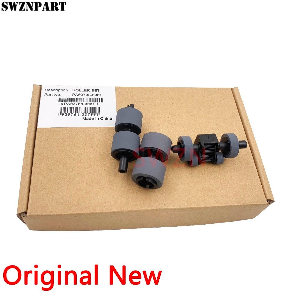 Genuine New Pick Roller + Brake Roller For Fujitsu SP-1120 Sp-1125 SP-1300 SP1120 Sp1125 SP1300 SP 1120 1125 1300 PA03708-0001 genuine new adf pick up roller for kyocera taskalfa ta3500i ta4500i ta5500i ta3501i ta4501i ta5501