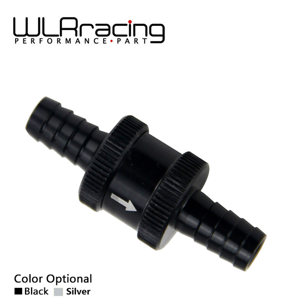 WLR RACING - 3/8 10mm Non Return One Way Fuel Check Valve Aluminium Alloy Petrol Diesel WLR-FCV10