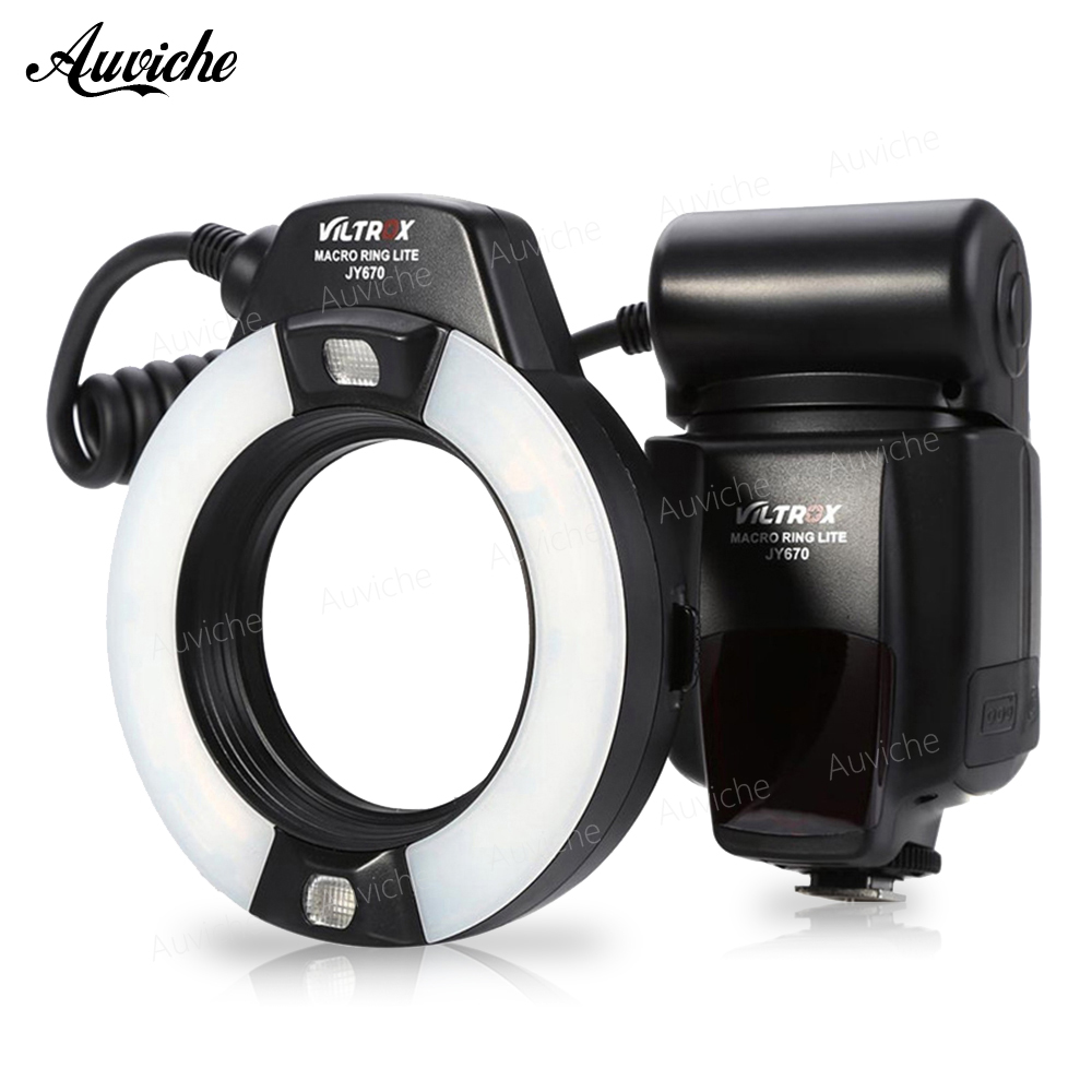 все цены на Viltrox JY-670 LCD Macro Ring Flash Light Speedlite for Canon Nikon DSLR Camera