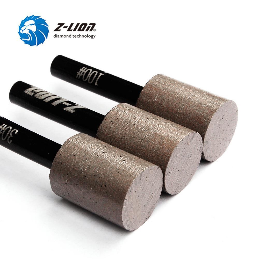 Z-LION 3pcs Diamond Sharpener Burr Metal Bond Diamond Sintered Drill Bit For Strone Granite Marble Tile Grinding Sanding Tool