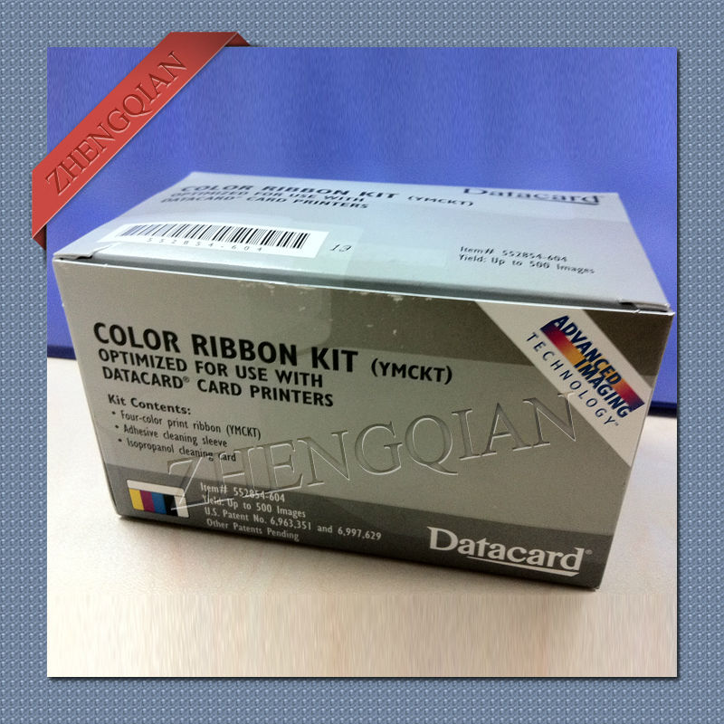 Original Datacard 552854-604 YMCKT full color ribbon for CD series id card printer update to 535000-003 datacard 535000 003 ymckt ribbon datacard cp80 card printer ribbon ymckt color ribbon