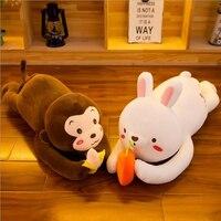 Lovely Rabbit Monkey Plush Toy Stuffed Animal Doll Soft Plush Pillow Birthday Gift For Children & Friends