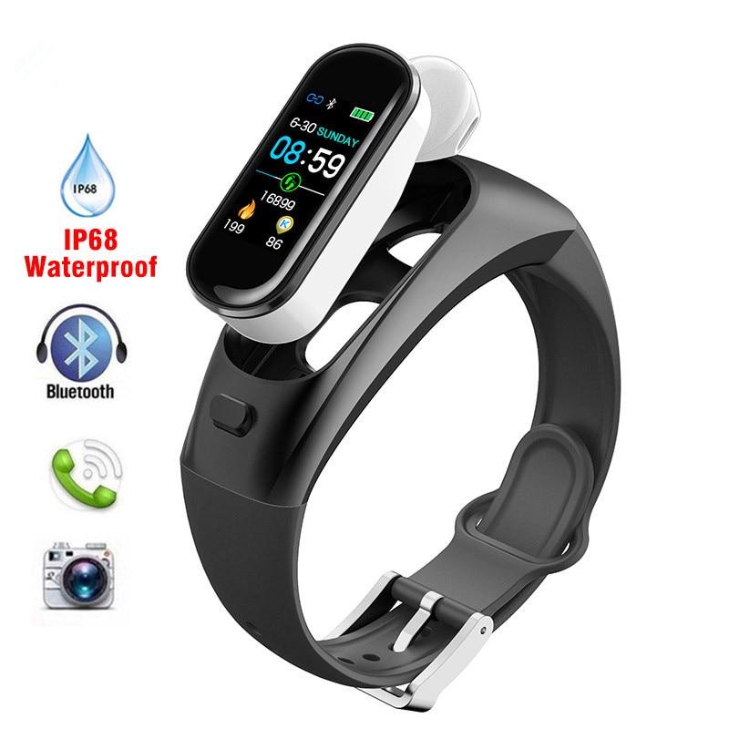Fashion H109 Smart Watch Bluetooth Wireless Earphone Blood Pressure Heart Rate Monitor Smart Bracelet For Apple