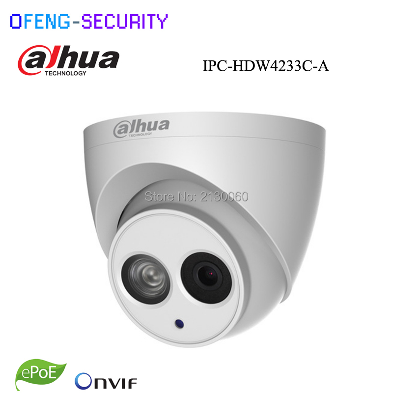Dahua DH-IPC-HDW4233C-A 2MP Dome Network IP Camera Built-in Mic Small IR with night sight HD WDR POE H.265/H.264 IPC-HDW4233C-A