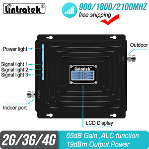 Image 4 - Repetidor de señal GSM 3G 4G ALC, teléfono móvil tribanda para 900/1800/2100MHz 2G DCS WCDMA LTE, amplificador celular S50, Envío Gratis