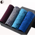 New Men Underwear Gift Box 4pca/lot Soft Breathable Modal Boxer Brand Designer Print Male Mens Underwear Boxers AU322 Wholesale