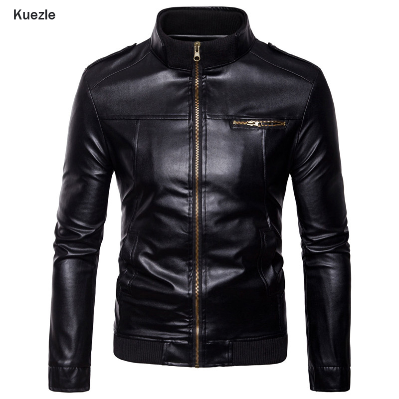 Kuezle Brand Motorcycle Leather Jackets Men Autumn And Winter Leather Clothing Men Leather Jackets Male Business Casual Coats