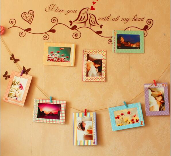 8pcs/lot Wall Paper Photo Frame 6 inches Home Decor Wall Picture ...