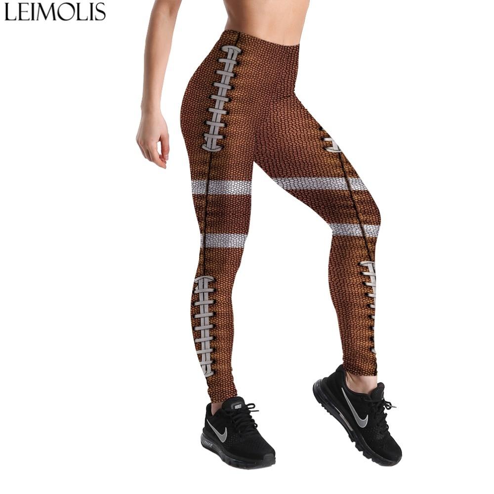 LEIMOLIS 3D printed brown Striped harajuku gothic sexy plus size high waist push up fitness workout   leggings   women pants