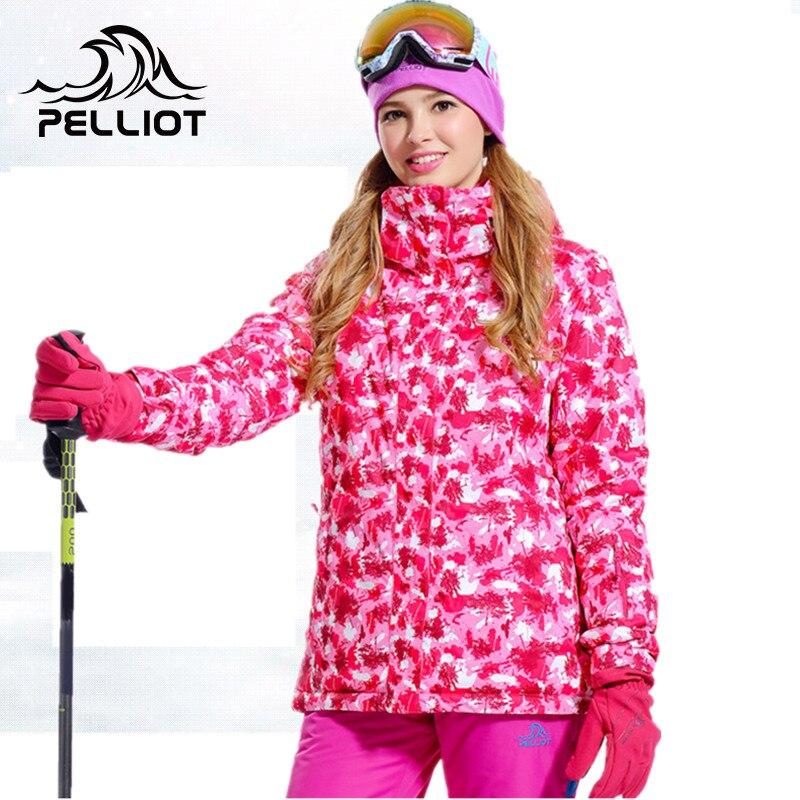 Prix pour PELLIOT Femmes Snowboard Vestes de Ski Veste Femme Hiver Étanche 20 k Neige Ski Veste Snowboard Camping Thermique Manteau