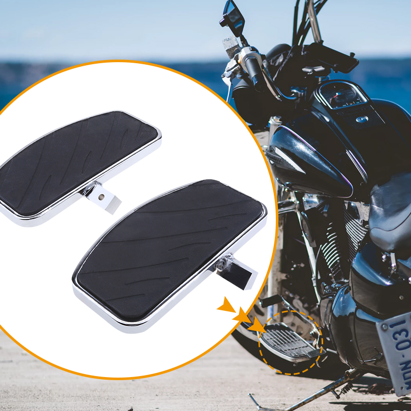 1 Pair Motorcycle Foot Pegs FootRest Footpegs Rests Pedals For Honda MAGNA VF250 VF750 /Yamaha V-STAR XVS 400/650 Etc