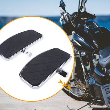 цена на 1 Pair Motorcycle Foot Pegs FootRest Footpegs Rests Pedals For Honda MAGNA VF250 VF750 /Yamaha XVS 400/650 XV125/250/400 /535