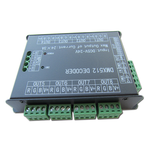 Image 2 - High Power 24 Channel 3A/CH DMX512 Controller Led Decoder Dimmer DMX 512 RGB LED Strip Controller DMX Decoder Dimmer Driver For