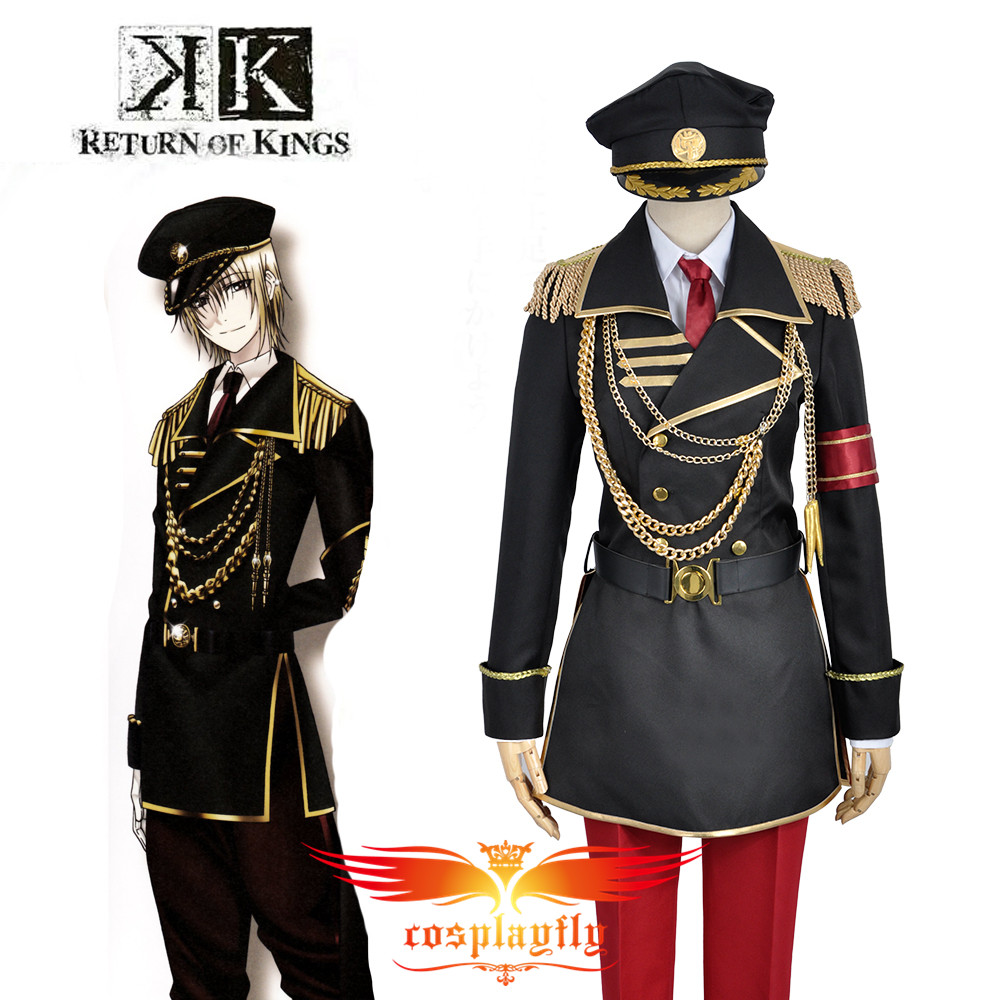 W0840 K Anime Return Of Kings Totsuka Tatara Military Uniform Outfit Cosplay Costume Adult Men Outfit Clothing Halloween