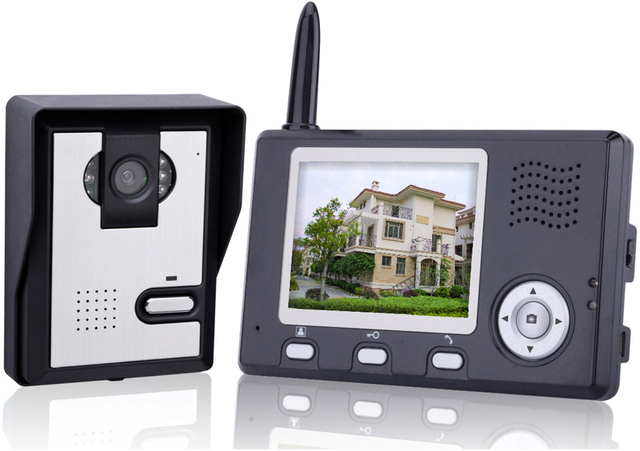 2.4Ghz 3.5 inch lcd wireless video door phone