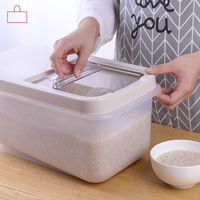 Rice barrel kitchen cabinet rice Grain storage box household plastic seal rice box wx1061102