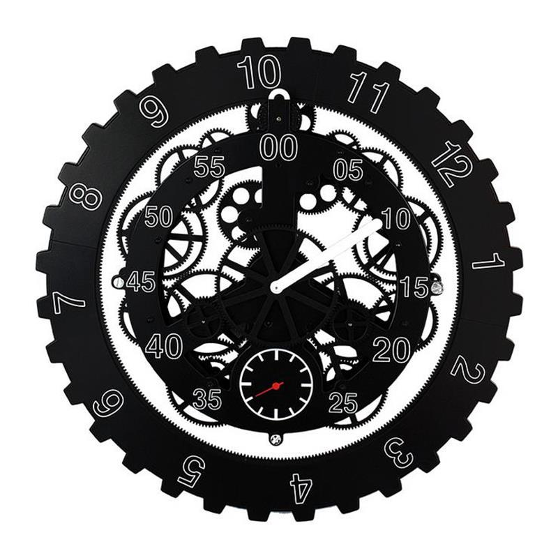 18 Inch Creative Gear Wall Clock Modern Design Living Room Bedroom Mute Wall Watch Home Decor