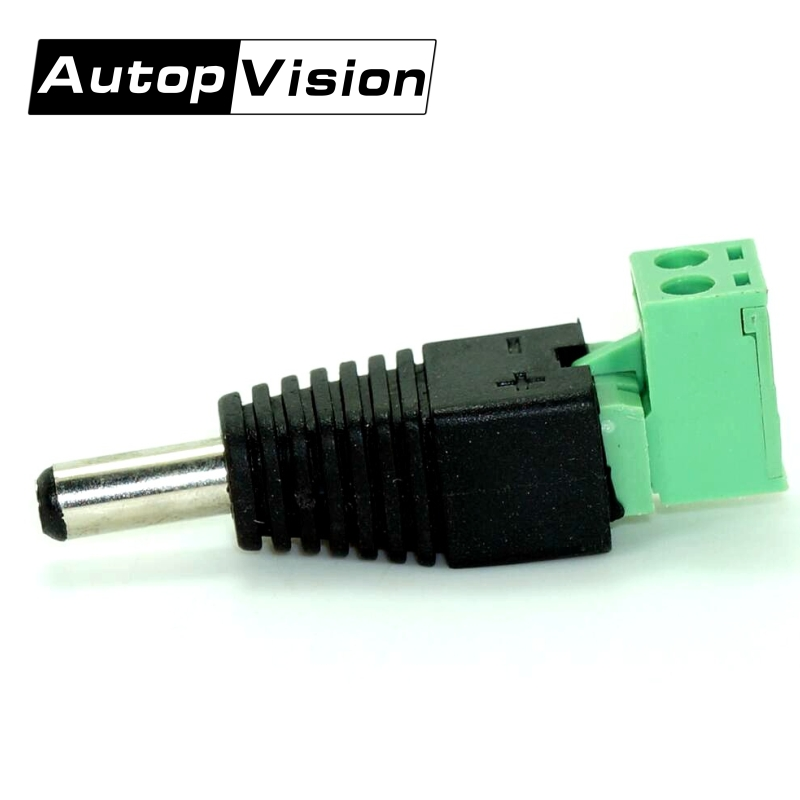 DHL FREE 500pcs/lot DC Male Elbow Adapter DC Power Plug BNC Connector For CCTV IP Camera Power Supply Surveillance Accessories