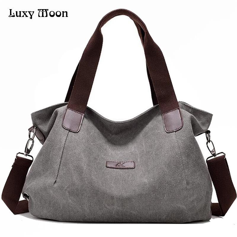 цены Woman Canvas Bags Casual Shoulder Bag Fashion Portable Big Tote Female Large Capacity Leisure Handbag Lady Messenger Bags  ZD622