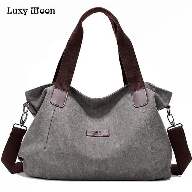 1b2f7e511a Woman Canvas Bags Casual Shoulder Bag Fashion Portable Big Tote Female Large  Capacity Leisure Handbag Lady Messenger Bags ZD622