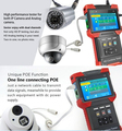 TVI  IPC  CVBS combined CCTV Tester 4.0'' TFT Monitor HD CCTV Tester With IP Camera Tester POE&PTZ & TDR Cable Combine Tester