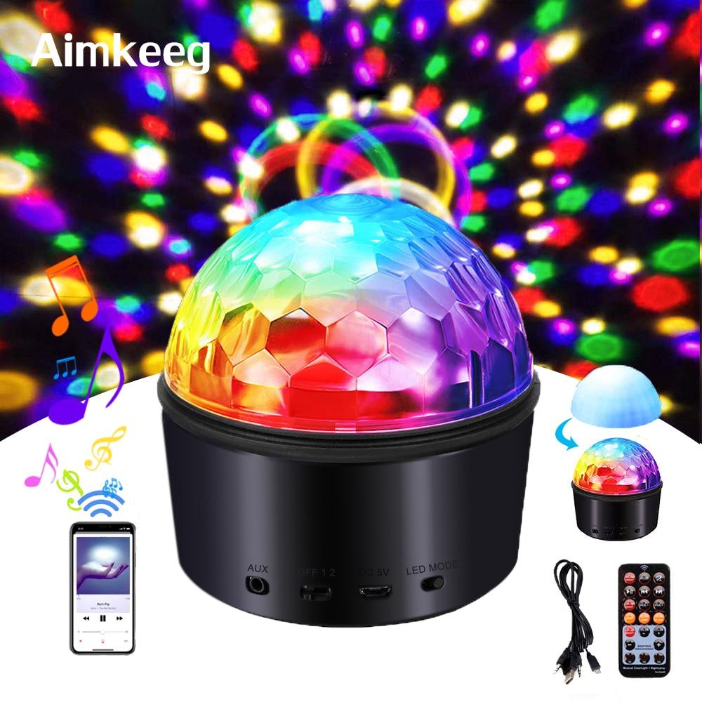Portable DJ Disco Ball Night Lamp RGB Effect Stage Light Music Club Strobe Light For KTV Wedding Party Show 9 Colors