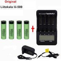 liitokala Original LCD 3.7V 1.2V 18500 26650 16340 14500 10440 18650 Battery charger + 4pcs panasonic 18650 Battery 3400mah
