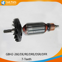 AC 220V 7 Teeth Drive Shaft Electric Hammer Armature Rotor For Bosch GBH2 26E DE RE
