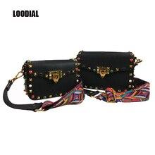 New Europe Street Fashion Women Bag Turquoise Color Rivet Flap Color Woven Wide Shoulder Strap Messenger Bags You